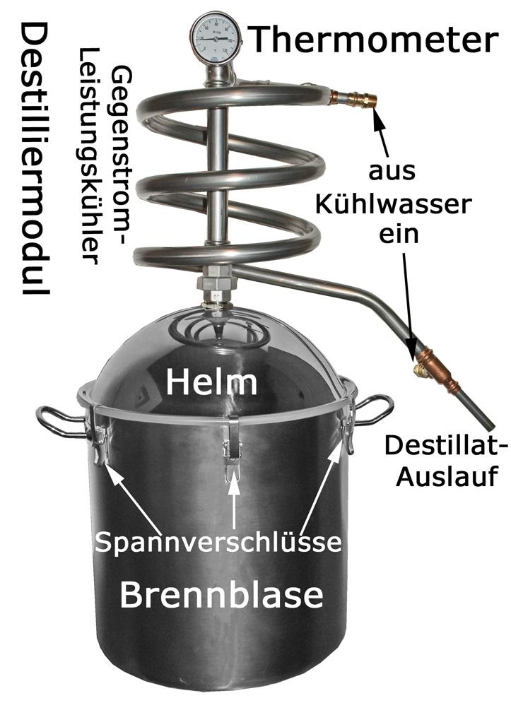 Stopfen 20-26 mm Prod. Destillier-Thermometer -Deutsch Destille