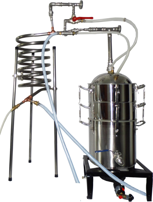 Destille Destilliermeister Schnapsbrennen Kupfer