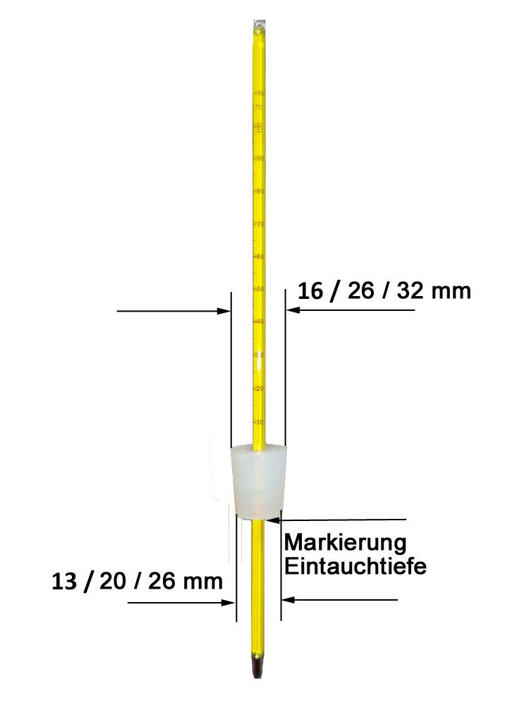 Prod. Stopfen 20-26 mm Destillier-Thermometer -Deutsch Destille